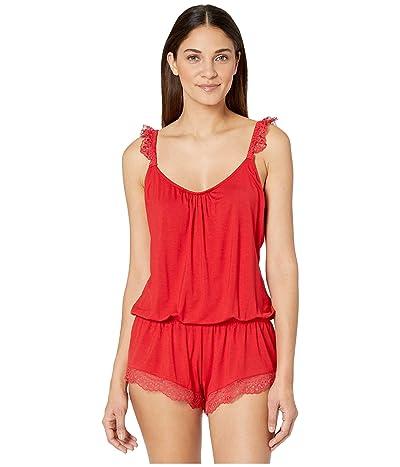 Eberjey Myla The Primped Teddy (Haute Red) Women