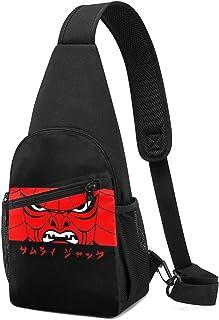 Hdadwy Samurai Jack is Back Mask Sling Mochila Sling Bag Black Crossbody Daypack Mochila informal Bolsa de pecho Mochila p...