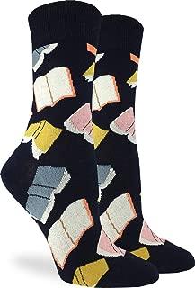 Women's Flying Books Socks - Black, Adult Shoe Size 5-9