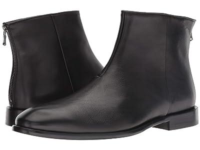 John Varvatos NYC Back Zip Boot (Black) Men