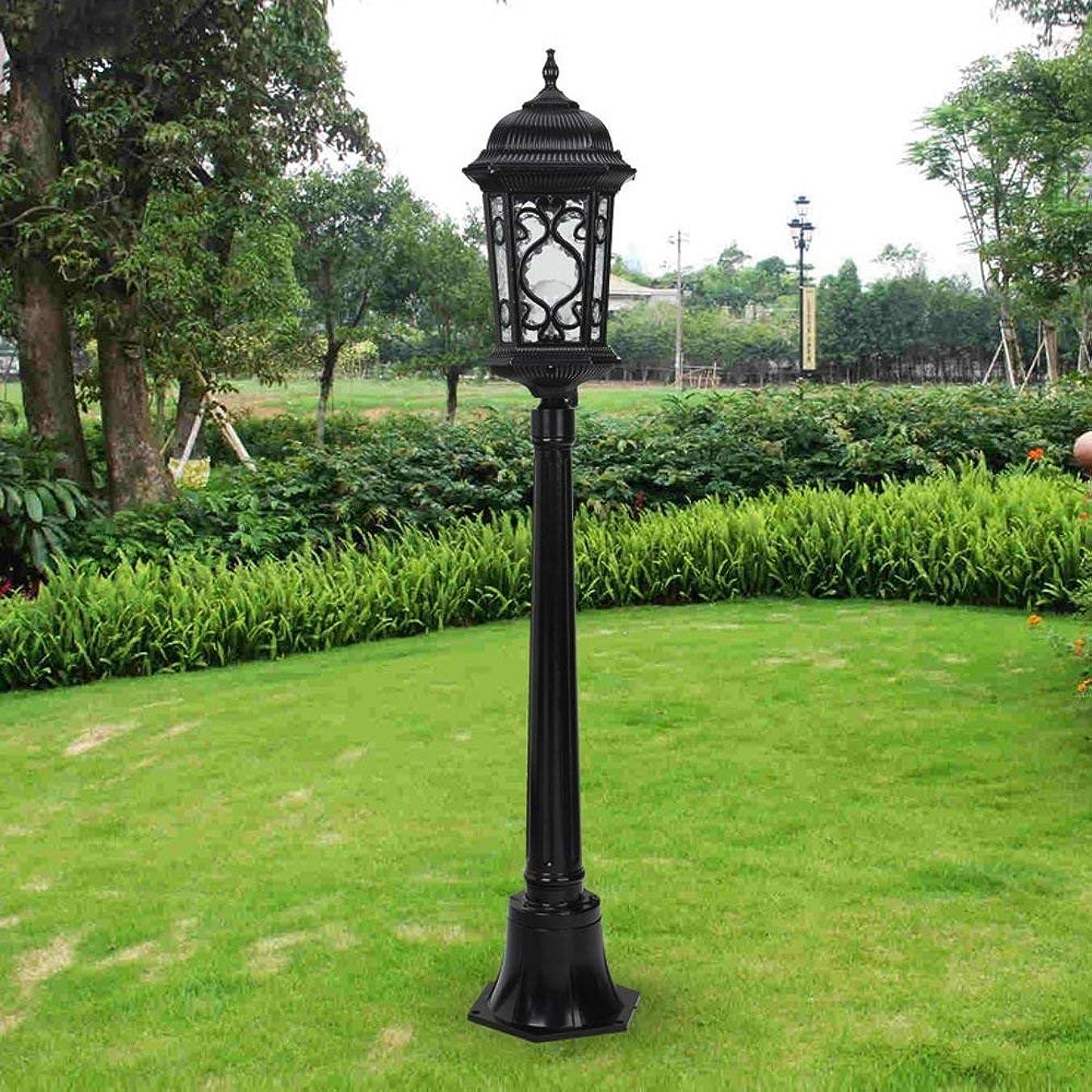 思いつく金額瞑想的Hines ヨーロッパビクトリア防水ガラスランタンストリートライト1光屋外フロアランプ列ライトアメリカのレトロアルミピラーポストE27風景ヴィラパーク装飾芝生庭のランプ