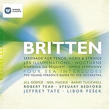 Benjamin Britten: Song Cycles, Sinfonia Da Requiem, Four Sea Interludes