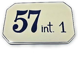 CERAMICHE D'ARTE PARRINI- Ceramica italiana artistica, numero civico in ceramica 23x15 personalizzato, semplice, dipinto a...