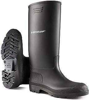 Botas unisex Wellingtons para mujer y hombre, totalmente impermeables, para nieve, lluvia, barro al aire libre, color Negr...