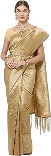 Viva N Diva Women's Kanjivaram Art Silk Saree With Unstitched Blouse Piece