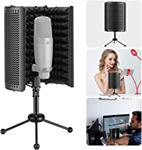 Neewer NW-13 Foldable Compact Microphone Isolation Shield with Tripod Stand, Studio Mic Sound Absorbing Foam Reflector for Sound Recording, Podcasts, Broadcasting (Mic and Shock Mount Not Included)
