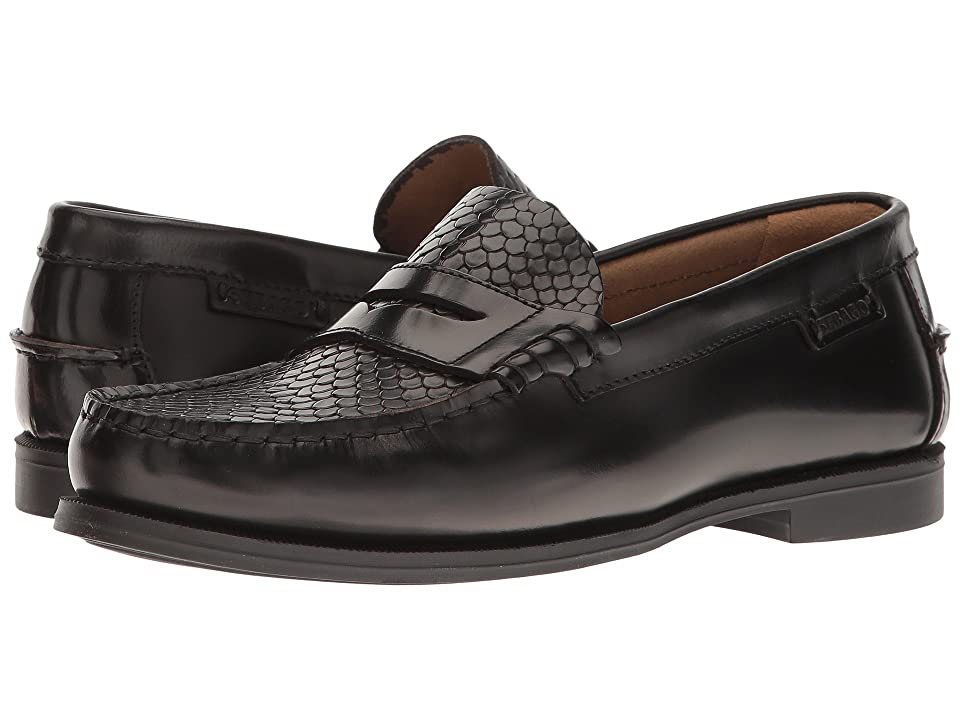 Sebago Plaza II (Black Leather/Snake Embossed) Women