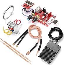 مجموعة أدوات لحام البقع، مجموعة أدوات لحام بقع البطارية NY-D01 لوحة تحكم رقمية مع قلم لحام محول 9V ودواسة قدم معدنية 40A 1...