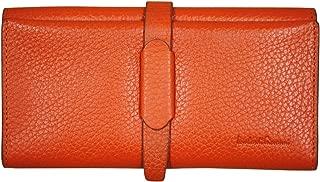 Women Leather Long Wallet 12 Slots Orange 20011