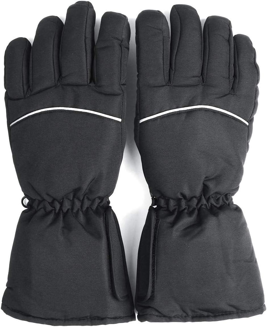 Lupovin-Keep Warm Battery Electrical Het Touch Screen Gloves Hand Winter Warmer Black Full Finger Motorcycle Non-Slip