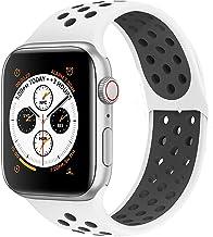VIKATech Compatible con Apple Watch Correa 44mm 42mm 40mm 38mm, Correa Deportiva Reemplazo clásico de Silicona Suave Transpirable para iWatch Series 5/4/3/2/1