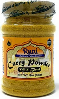 Rani Curry Powder Mild Natural 10-Spice Blend 85g (3oz) ~ Salt Free | Vegan | No Colors | Gluten Free Ingredients | NON-GMO