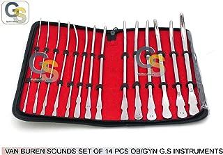 VAN BUREN SOUNDS SET OF 14 PCS OBGYN G.S INSTRUMENTS