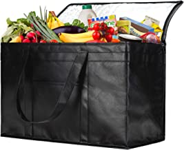 NZ home XXL Insulated Bag, Reusable Grocery Shopping Bag, Hot & Cold Food Delivery Bag, Collapsible, Washable, Heavy Duty, Stands Upright, Light Weight