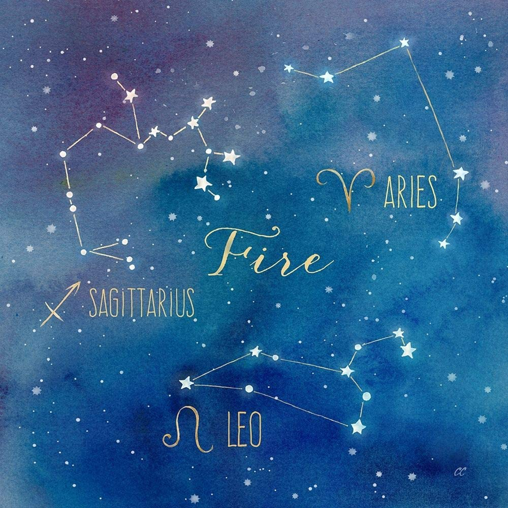 Posterazzi Collection Star Sign Fire by Cou 40% OFF Cheap Sale Poster Cynthia 67% OFF of fixed price Print