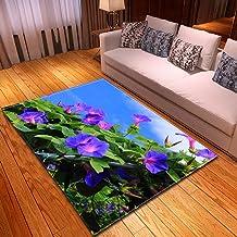 LHGBGBLN 3D Printing Carpet Green Plants Bedroom Living Room Non-Slip mat Corridor Floor mat Door mat Flower Carpet Home D...