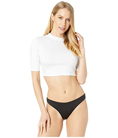Roxy Crop 3/4 Rashguard (Bright White) Women
