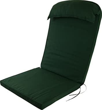 Plant Theatre Adirondack Chair Luxury High Back Cushion with Head Pillow in Evergreen