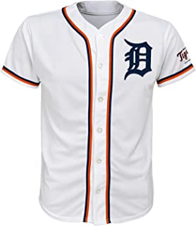 Detroit Tigers White Youth Team Apparel Home Jersey