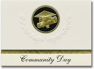 Signature Announcements Community Day (Benicia, CA) Graduation Announcements, Presidential style, Elite package of 25 Cap...