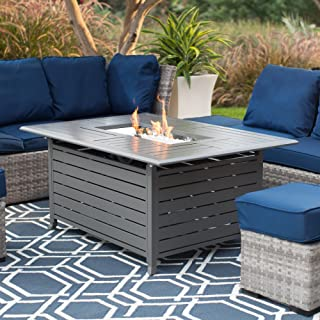 Red Ember Longmont 50 x 38 in. Rectangle Gas Fire Pit- Charcoal
