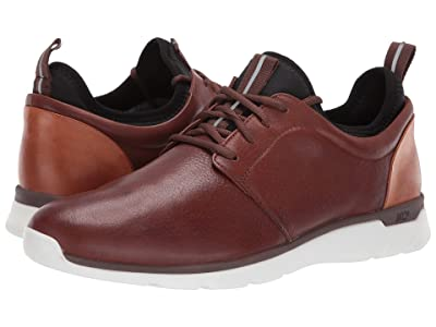 Johnston & Murphy Waterproof Prentiss XC4(R) Casual Dress Plain Toe Sneaker (Mahogany Waterproof Full Grain) Men