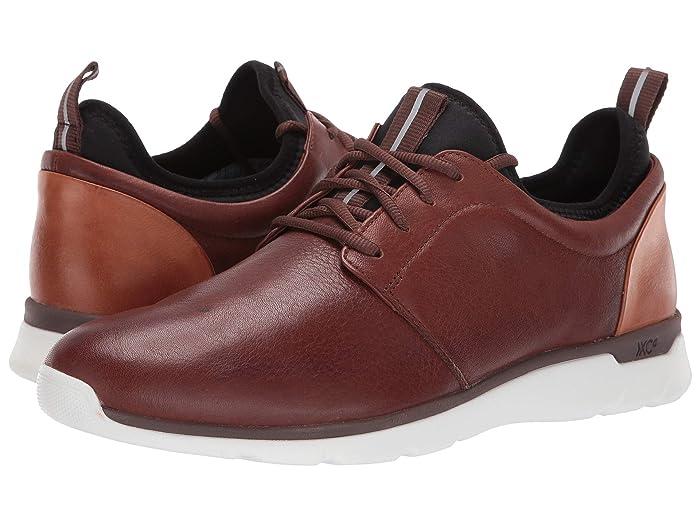 Johnston and Murphy  Waterproof Prentiss XC4 Casual Dress Plain Toe Sneaker (Mahogany Waterproof Full Grain) Mens  Shoes