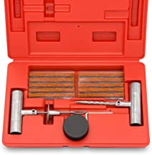 Tooluxe 50002L Universal Tire Repair Kit to Fix Punctures and Plug Flats, 35-Piece Value..