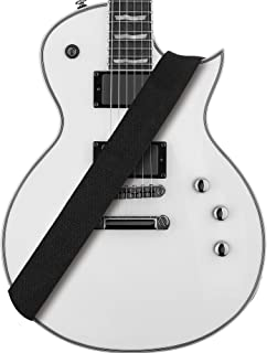 Amumu Cotton Guitar Strap Black for Acoustic, Electric and Bass Guitars with Strap Blocks & Headstock Strap Tie - 2