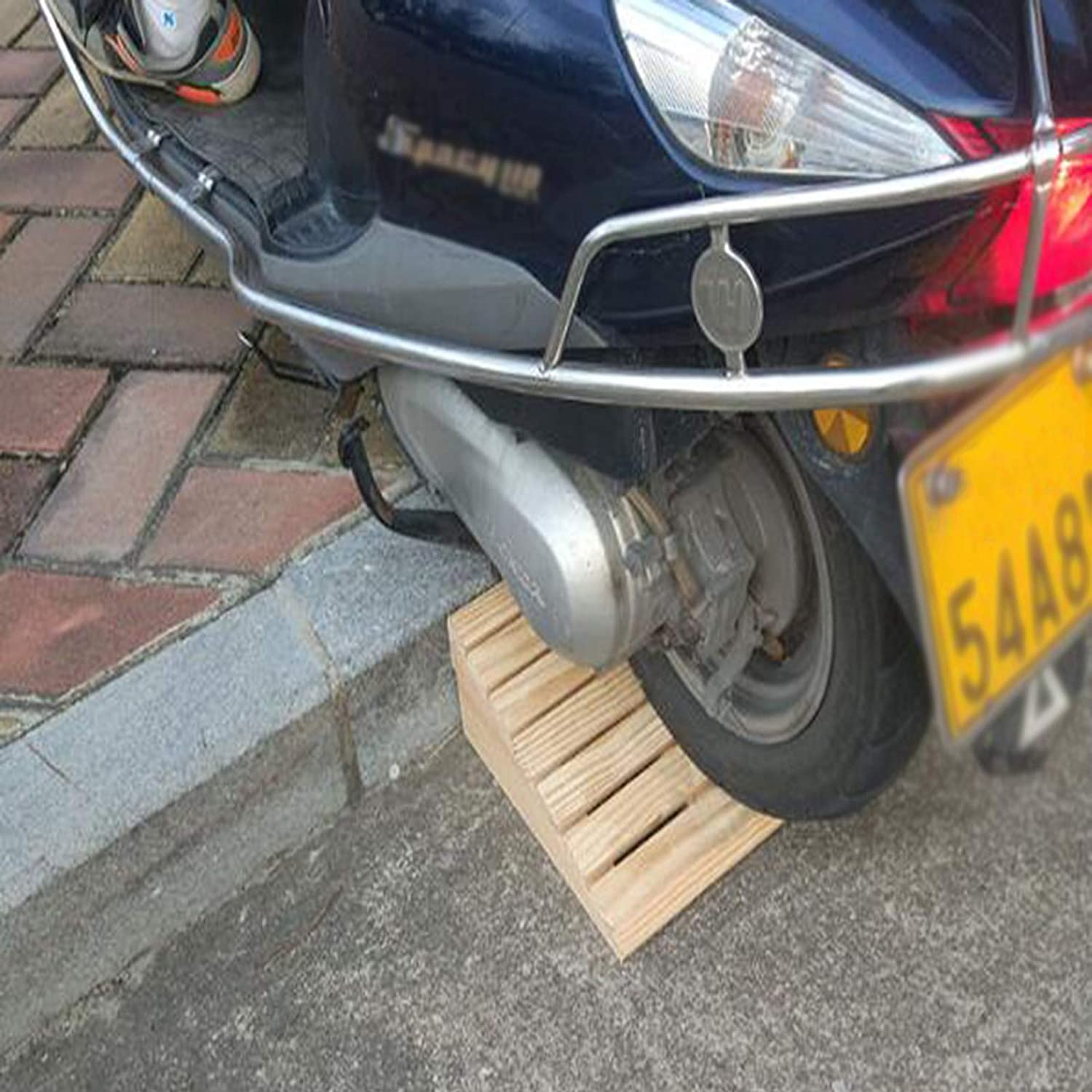 YSML Wood Steps Ramps Popular product Slope Portable for Very popular Pad Motorcycles Thresh