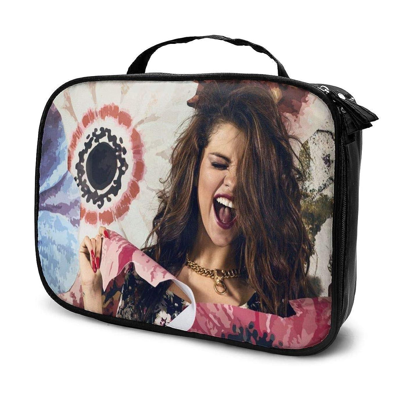 ビクター病的困難化粧ポーチ Selena Gomez 女性化粧品バッグ ビューティー メイク道具 フェイスケアツール 化粧ポーチメイクボックス ホーム、旅行、ショッピング、ショッピング