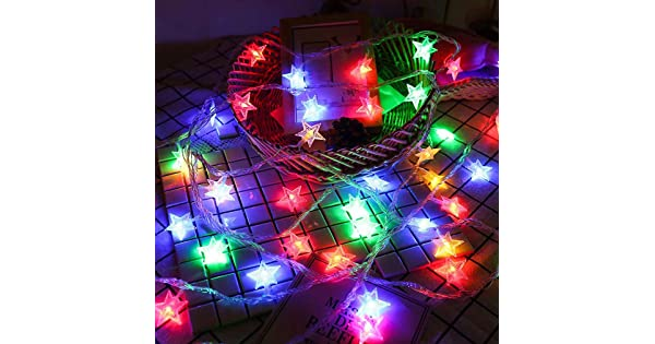 Warm White LONJYI Star String Lights 19.6ft//6m 40 LED Fairy Lights USB Powered String Lights for Home Garden Party Wedding Birthday Christmas Indoor Outdoor Decoration