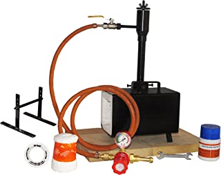 Portable Propane Gas Forge Single Burner Knife and Tool Making Blacksmith Farrier Forge with Stand