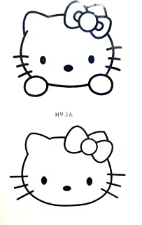 hello kitty temporary tattoo Party event fun for Adults fake realistic skin art