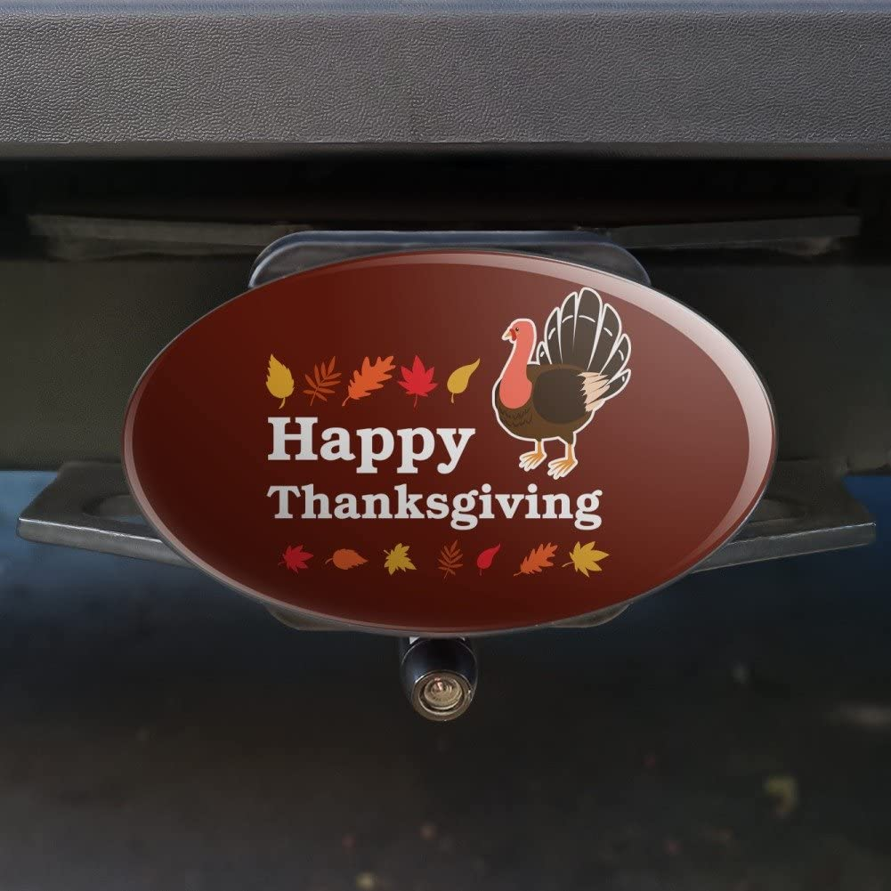 Graphics and More Happy Thanksgiving Turkey Oval Tow Trailer Hitch Cover Plug Insert