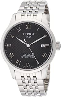Tissot mens Le Locle Stainless Steel Dress Watch Grey T0064071105300