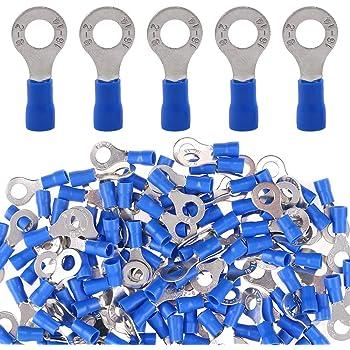 M3 Azul Aislado Anillo Crimp Terminal Qty = 100
