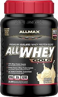 ALLMAX Nutrition AllWhey Gold 100% Whey Protein, Vanilla, 2 lbs