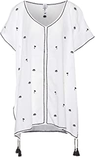 SEAFOLLY Women's Embroidered Kaftan Swimsuit Cover Dress Swimwear, Florence White, One Size