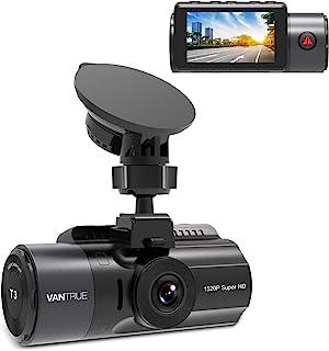Vantrue T3 1520P Dash Cam با ابر خازن ، دوربین 160 درجه ای با زاویه دید عریض برای اتومبیل ، ضبط کننده رانندگی دوربین داشبورد با دید در شب ، HDR ، رادار تشخیص ، ضبط حلقه ، سنسور G ، پشتیبانی از 256 گیگابایت