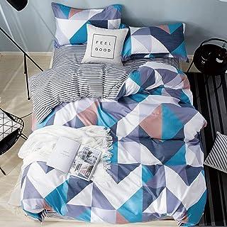 XLLJA sängkläder påslakan, aloe vera cotton sanding 3 eller 4-delat påslakan, påslakan med kuddöverdrag, Single Double Kin...