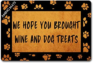 Funny Welcome Mats Home Decor Personalized Door Rugs(23.6 X 15.7 in) with Anti-Slip Rubber Back Doormat Gift Door Mat for ...
