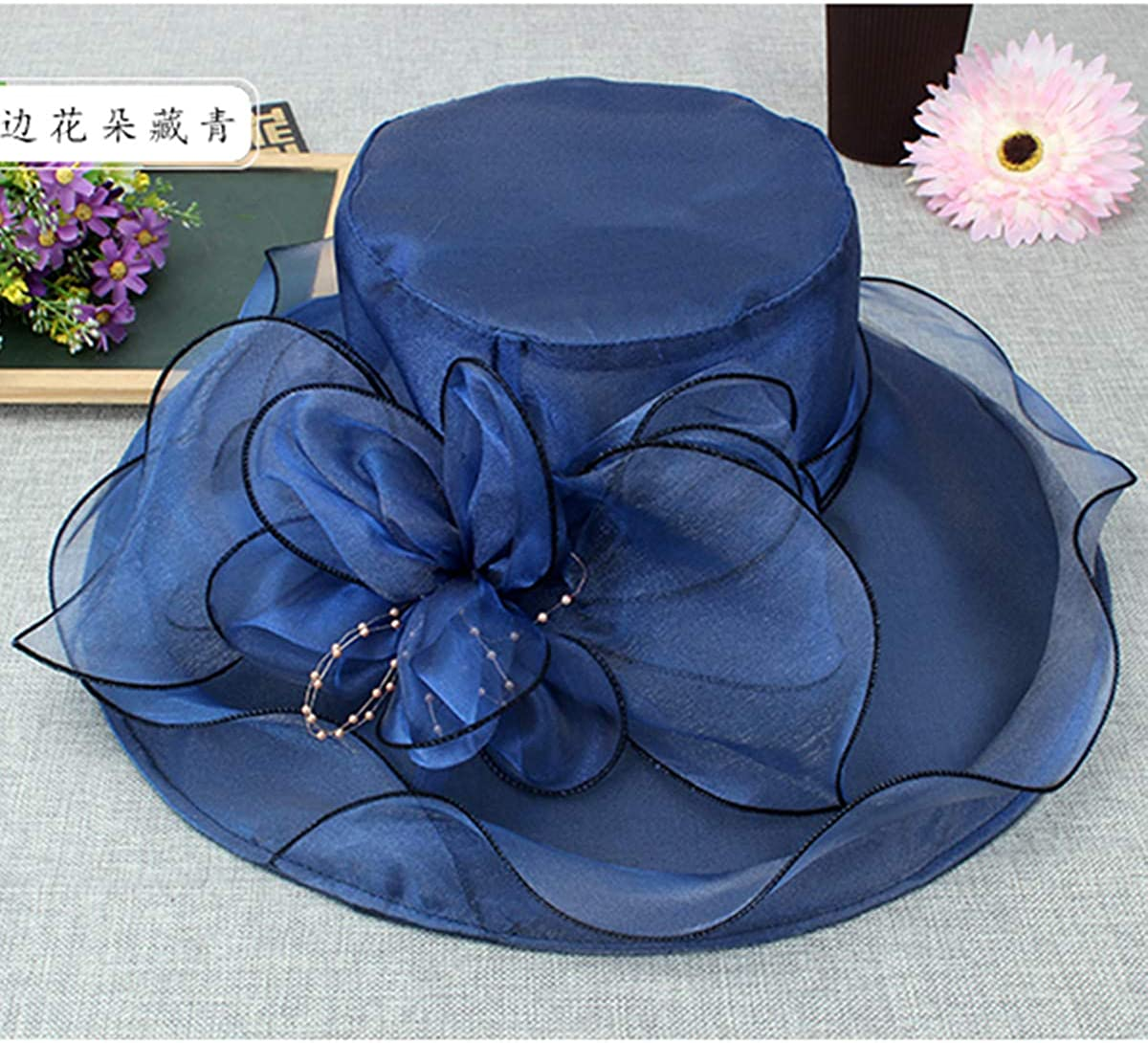 Foldable Organza Fascinators Kentucky Derby Church Dress Large Floral Party Hat