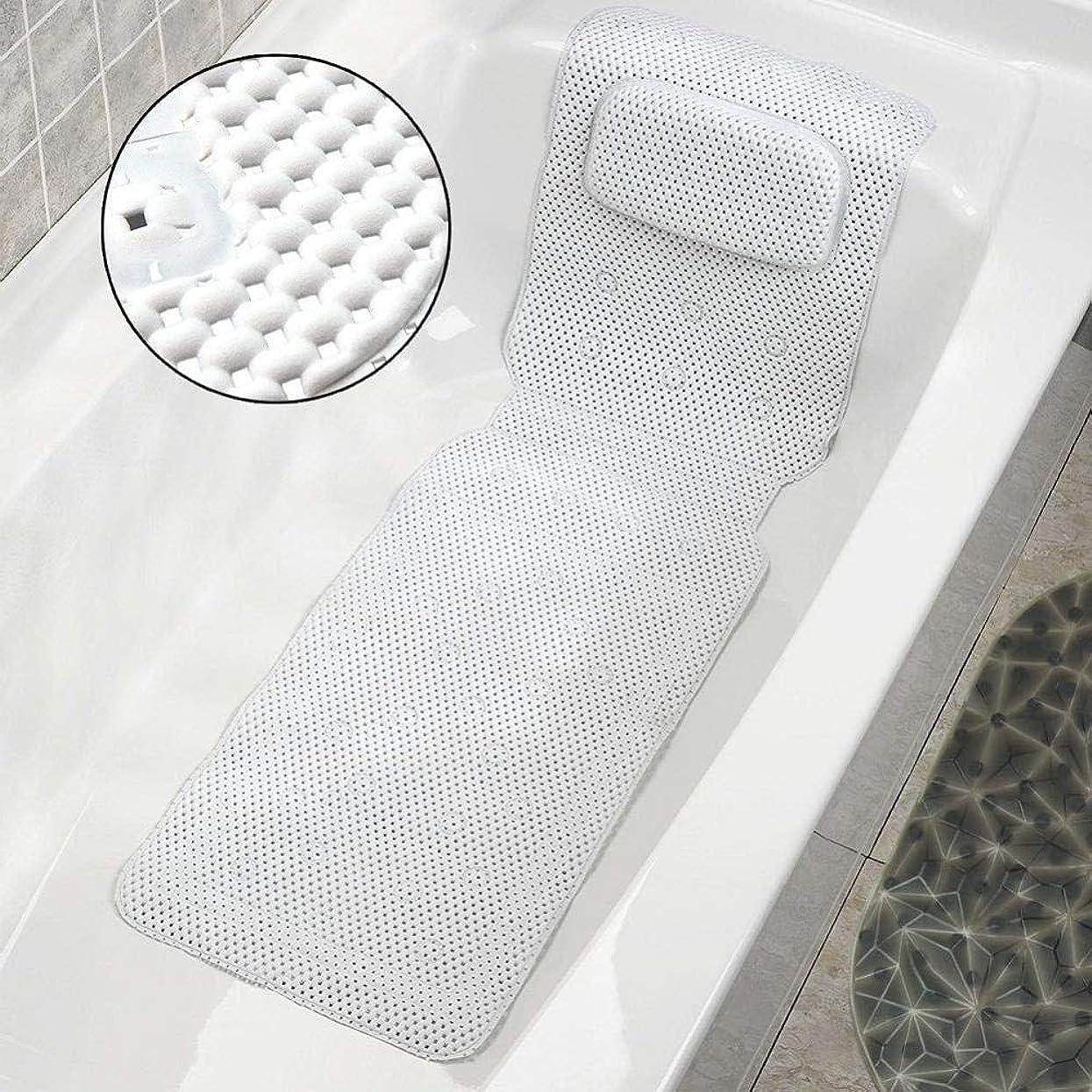 信頼性維持する商人LMCLJJ バスピロー全身用速乾性スパピロー浴槽、ソフトPVC付きバスタブピロー、吸引カップ付きバスベッド通気性