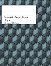 Isometric Graph Paper: Isometric Graph Paper Notebook Ideal for Architecture, Landscaping 3D Designs and Geometry. 8.5x11 Size, 160 Pages/ 80 Sheets. Dark Theme