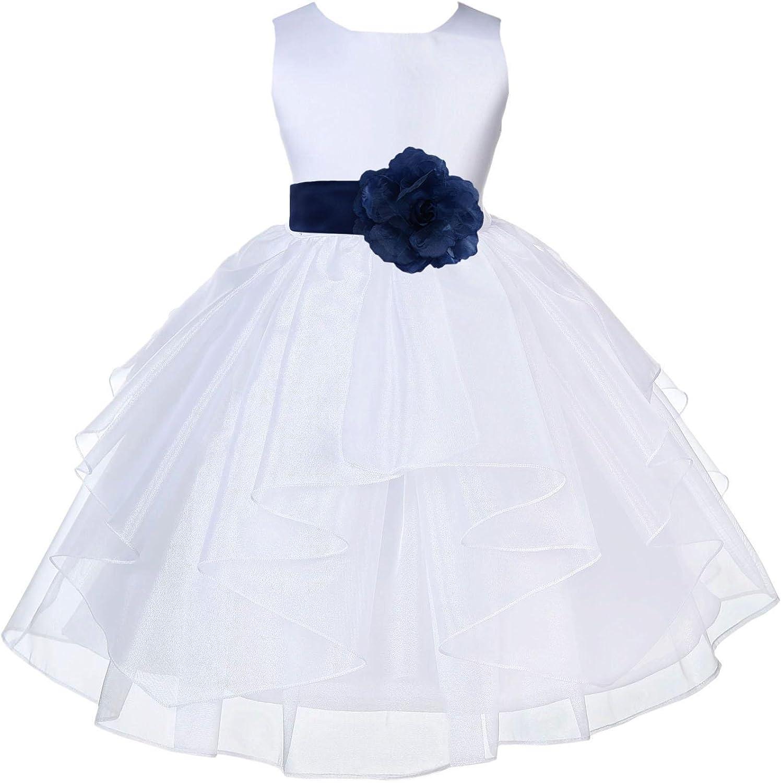 ekidsbridal Organza White Flower Girl Dresses Baptism Dress Pageant Dress 4613s