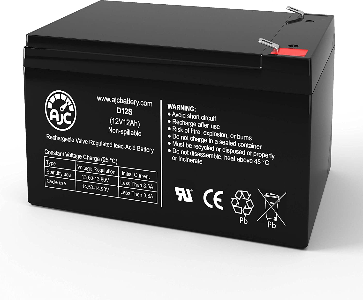 AJC Battery Compatible with MK ES12-12 12V 12Ah UPS Battery