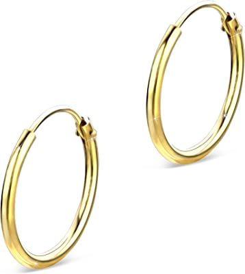 Orovi Orecchini da donna a cerchio in oro giallo da 8carati (333).