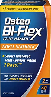 Osteo Bi-Flex Triple Strength Coated Tablets (Pack of 40), Joint Health Supplements with Glucosamine & Vitamin C, Gluten Free