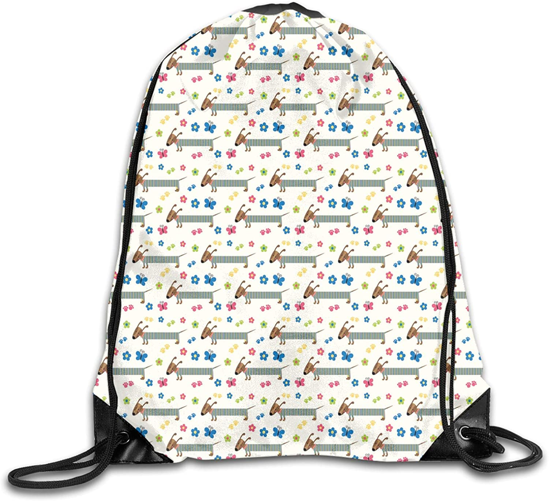 Drawstring Backpack Unisex Bag for Gym Limited price Rare sale Traveling Car Wiener Dog